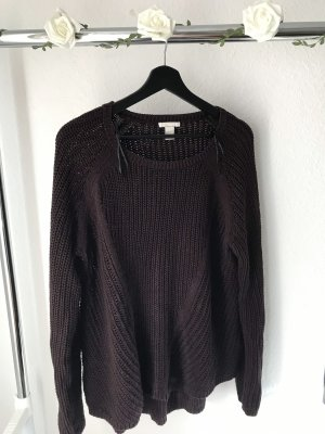 H&M Coarse Knitted Sweater blackberry-red
