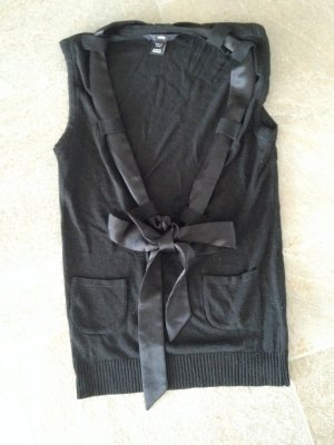 Pollunder schwarz mit Satinschleife, H&M in Größe 36