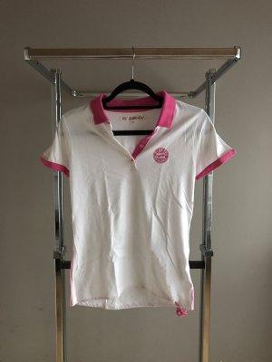 Camiseta tipo polo blanco-rosa
