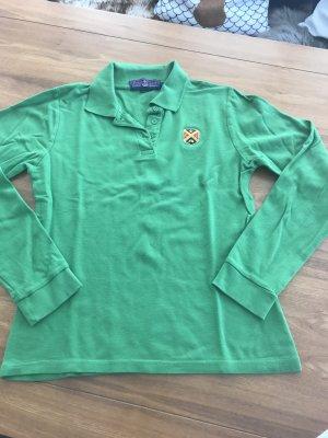Polo Club - grünes Langarm Poloshirt