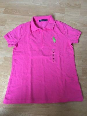 Polo Golf Ralph Lauren pink grün M 38 neu ungetragen Etikett Poloshirt T-Shirt