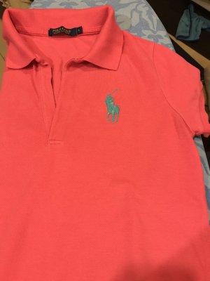 Ralph Lauren Golf Camiseta tipo polo rosa-turquesa
