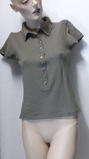 Madeleine Polo Shirt green grey cotton