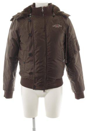 Polo Jeans Co. Ralph Lauren Daunenjacke graubraun sportlicher Stil
