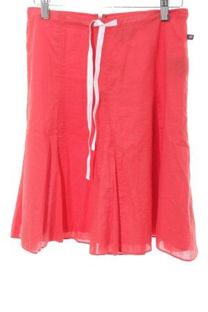 Polo Jeans Co. Ralph Lauren Faltenrock rot-weiß Romantik-Look