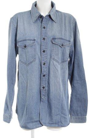 Polo Jeans Co. Ralph Lauren Jeanshemd blassblau Jeans-Optik