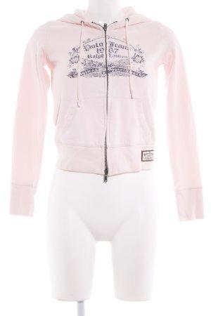 Polo Jeans Co. Ralph Lauren Capuchon sweater rosé gedrukte letters