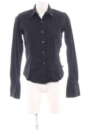 Polo Jeans Co. Ralph Lauren Langarm-Bluse schwarz Business-Look