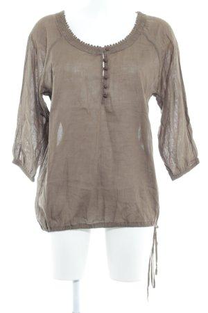 Polo Jeans Co. Ralph Lauren Langarm-Bluse hellbraun Casual-Look