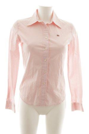 Polo Jeans Co. Ralph Lauren Langarm-Bluse rosa klassischer Stil