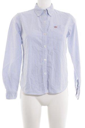 Polo Jeans Co. Ralph Lauren Langarmhemd weiß-blau Streifenmuster Business-Look