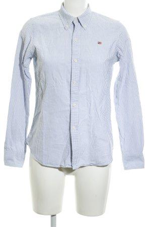 Polo Jeans Co. Ralph Lauren Chemise à manches longues blanc-bleu motif rayé