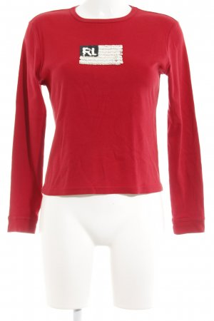 Polo Jeans Co. Ralph Lauren Longsleeve ziegelrot Casual-Look