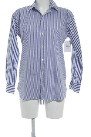 Polo Jeans Co. Ralph Lauren Oversized Bluse weiß-blau Nadelstreifen