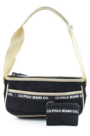 Polo Jeans Co. Ralph Lauren Sac de soirée noir-beige style décontracté