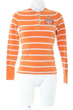 Polo Jeans Co. Ralph Lauren Polo-Shirt hellorange-weiß Motivdruck Business-Look