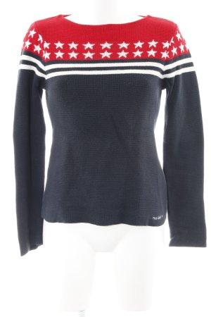 Polo Jeans Co. Ralph Lauren Rundhalspullover dunkelblau-rot Sternenmuster