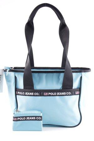 Polo Jeans Co. Ralph Lauren Sporttasche hellblau-schwarz sportlicher Stil