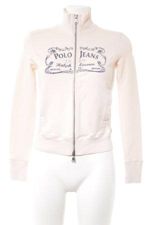 Polo Jeans Co. Ralph Lauren Sweatjacke rosé Schriftzug gedruckt Casual-Look