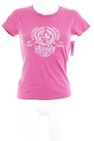 Polo Jeans Co. Ralph Lauren T-Shirt pink Schriftzug gedruckt Casual-Look