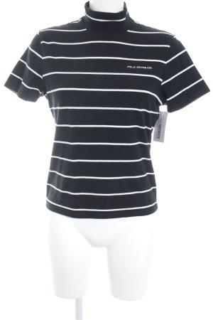 Polo Jeans Co. Ralph Lauren T-Shirt schwarz-weiß Ringelmuster Casual-Look
