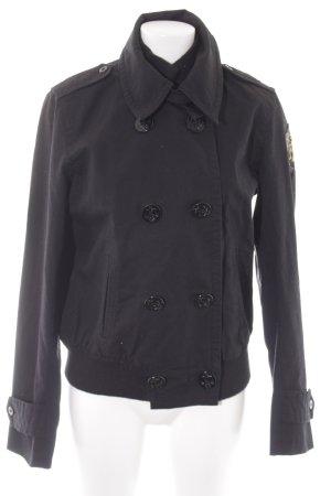 Polo Jeans Co. Ralph Lauren Übergangsjacke schwarz klassischer Stil