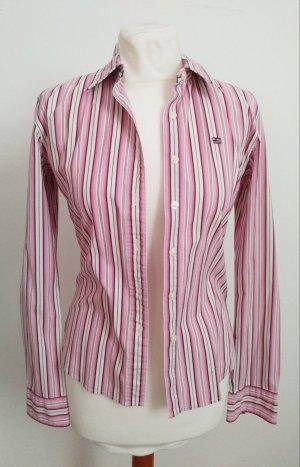 Polo Jeans Company Bluse mit Streifen in Weiß Pink