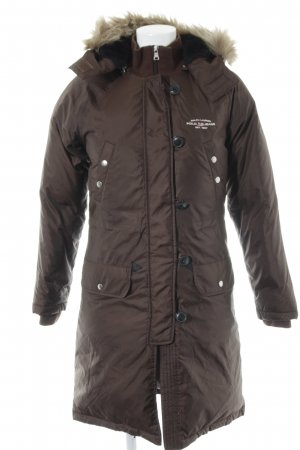 Polo Jeans Company Down Coat brown-dark brown casual look