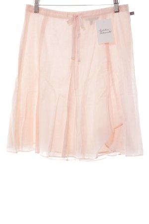 Polo Jeans Company Falda a cuadros rosa claro estilo romántico
