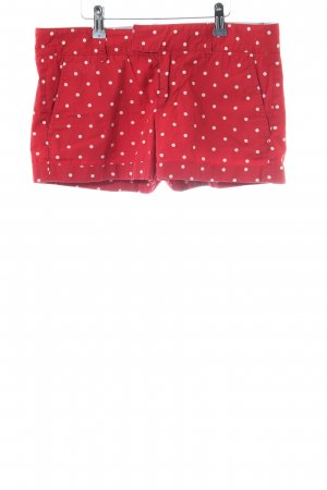 Polo Jeans Company Hot Pants rot-weiß Punktemuster Casual-Look
