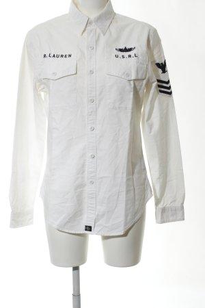 Polo Jeans Company Chemise en jean blanc-noir style décontracté