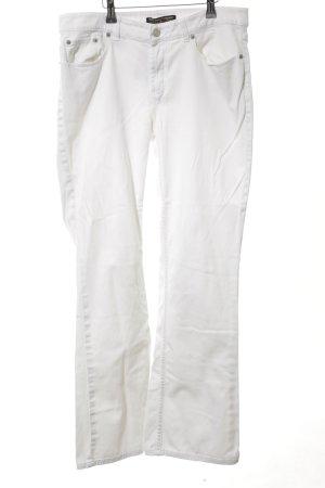 Polo Jeans Company Jeans a zampa d'elefante bianco stile casual