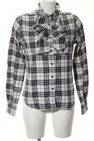 Polo Jeans Company Karobluse hellgrau-weiß Karomuster Casual-Look