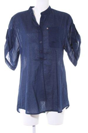 Polo Jeans Company Kurzarm-Bluse dunkelblau Casual-Look