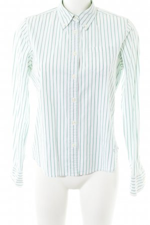 Polo Jeans Company Langarmhemd weiß-mint Streifenmuster Casual-Look