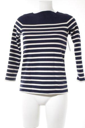 Polo Jeans Company Longsleeve dunkelblau-weiß Streifenmuster Casual-Look