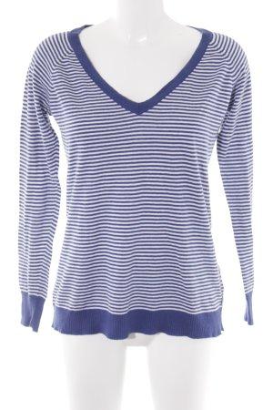 Polo Jeans Company Longsleeve weiß-stahlblau Streifenmuster Street-Fashion-Look