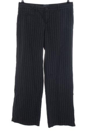 Polo Jeans Company Marlenehose schwarz Streifenmuster Business-Look