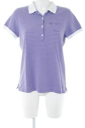 Polo Jeans Company Polo Top blue-white striped pattern casual look
