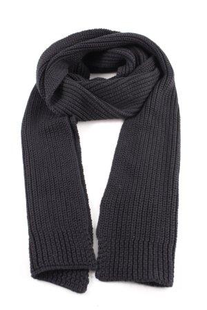 Polo Jeans Company Sciarpa lavorata a maglia nero punto treccia
