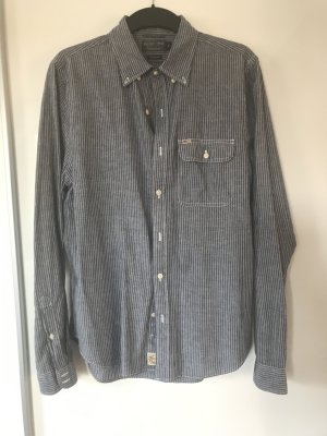 Polo Jeans Camisa de manga larga azul oscuro-blanco