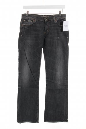 Polo Jeans Jeansschlaghose schwarz-anthrazit Casual-Look