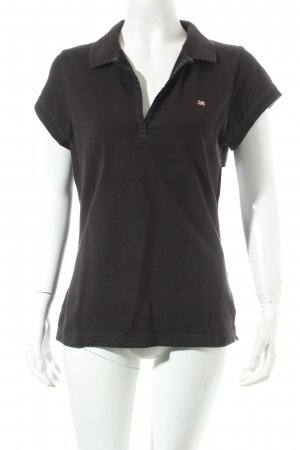 Polo Jeans Polo-Shirt schwarz Casual-Look