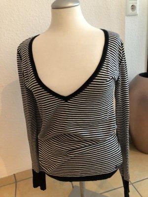 Polo Jeans Co. Ralph Lauren Pull col en V blanc-noir