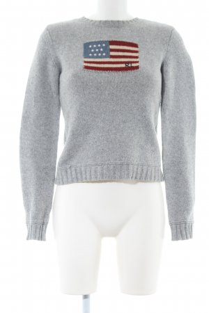 Polo Jeans Strickpullover hellgrau meliert Casual-Look