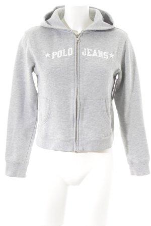 Polo Jeans Sweatjacke hellgrau-weiß meliert Casual-Look