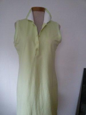 Passport Polo Dress lime-green cotton