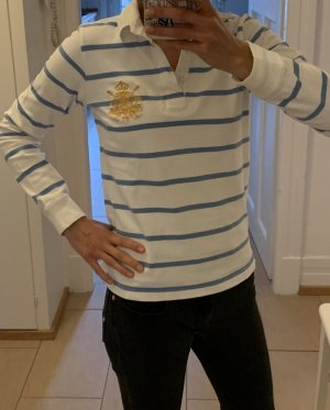 Ralph Lauren Sport Polo bianco-blu fiordaliso