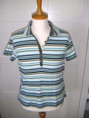 Polo, Poloshirt, Shirt, T-Shirt, gestreift, Streifen, bunt, Cecil, Gr. L