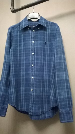 Polo Ralph Lauren Camisa de manga larga azul oscuro-azul acero Lino